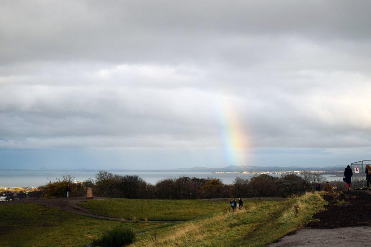 Vista oceano da Calton Hill